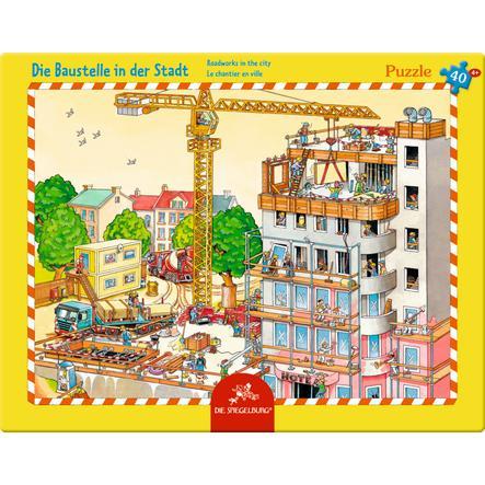 COPPENRATH Rahmenpuzzle - Die Baustelle in der Stadt, 40 Teile