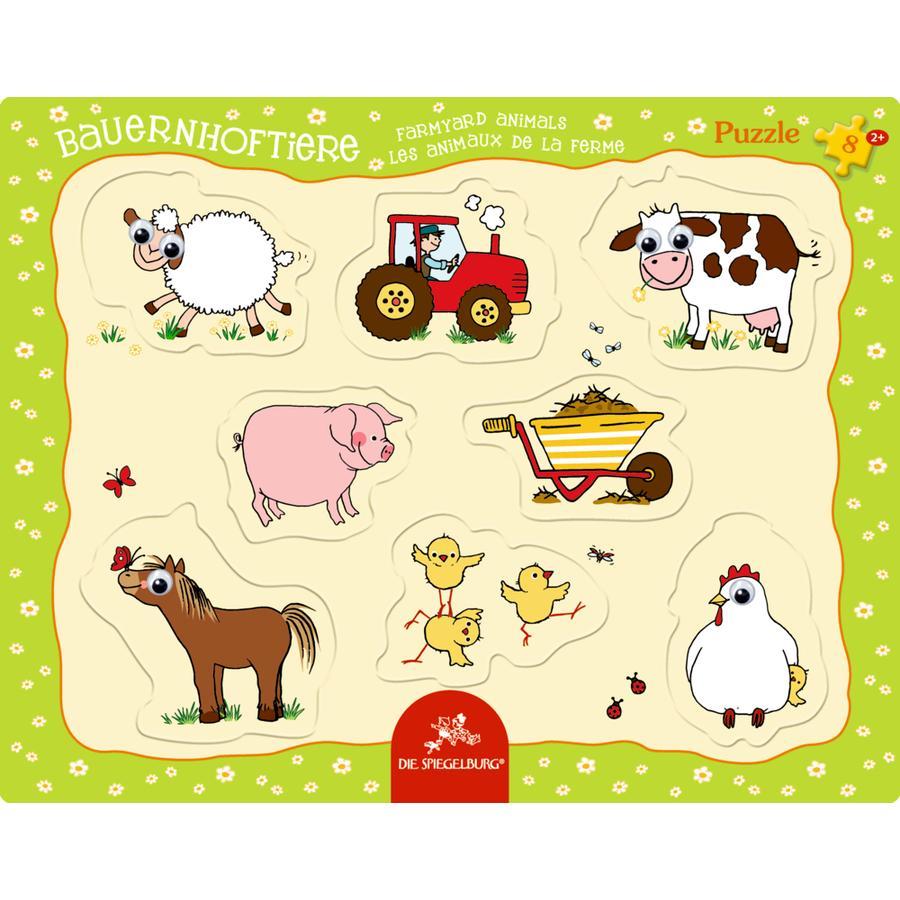 COPPENRATH Kulleraugen-Puzzle Bauernhoftiere, 8 Teile