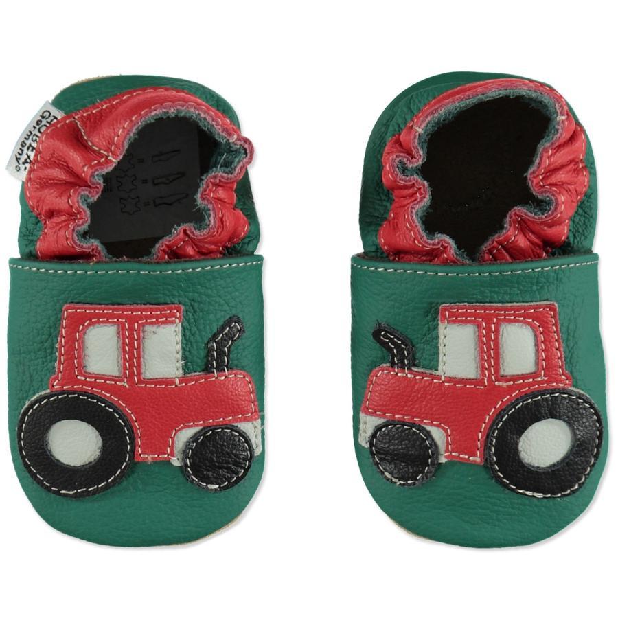 HOBEA Chaussons bébé tracteur vert
