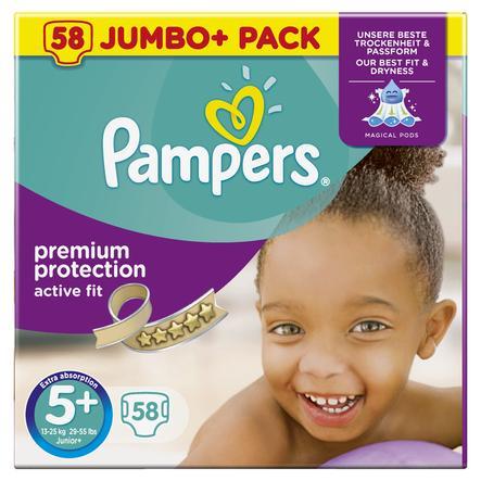 Pampers Windeln Active Fit Gr. 5+ Jumbo Plus Pack 13-25 kg Jumbo Plus Pack 58 Stück