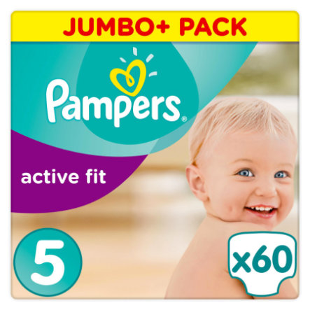 Pampers Couches Active Fit Junior T. 5+ (11-25 kg) Jumbo Plus Pack