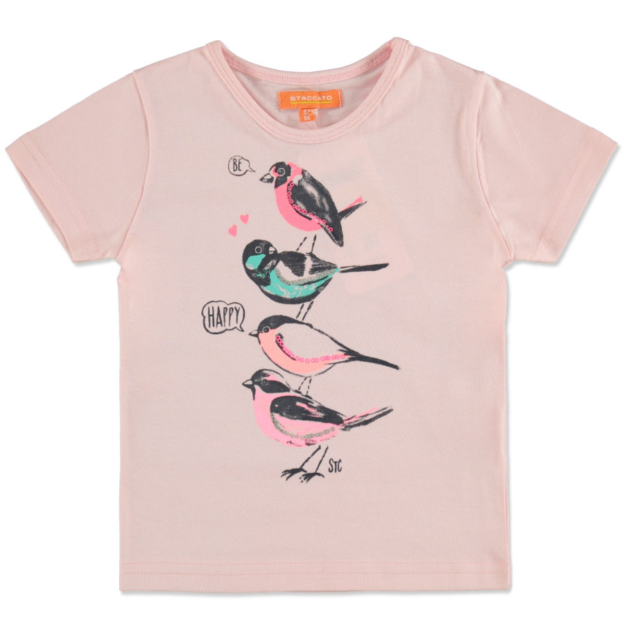 STACCATO Girls T-Shirt powder Vögel