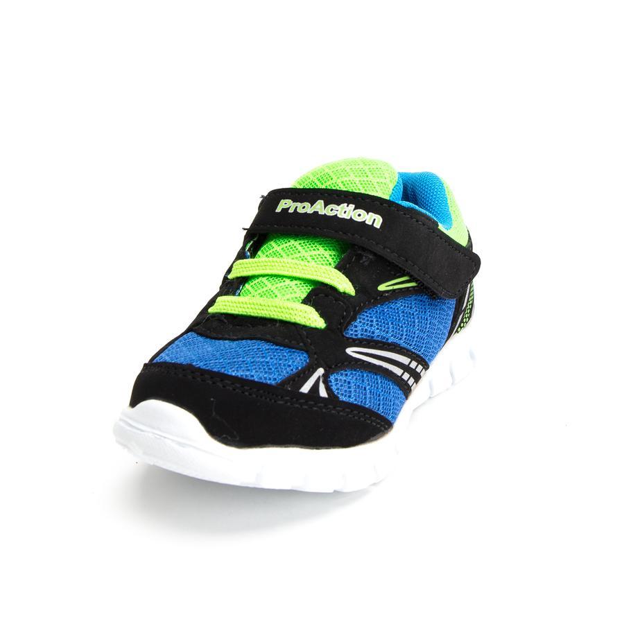 ProAction Boys Sneaker schwarz/blau/hellgrün