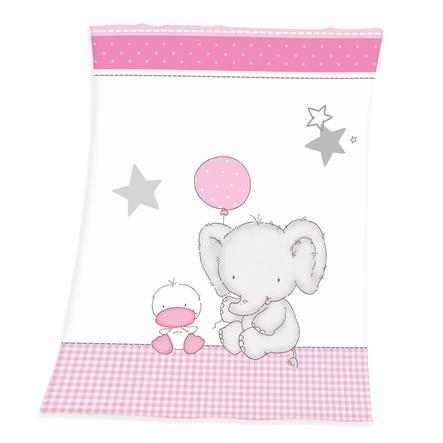 babybest® Kinderdecke Kleiner Elefant 75 x 100 cm