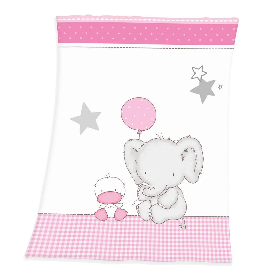 babybest® Couverture enfant éléphant, 75x100 cm