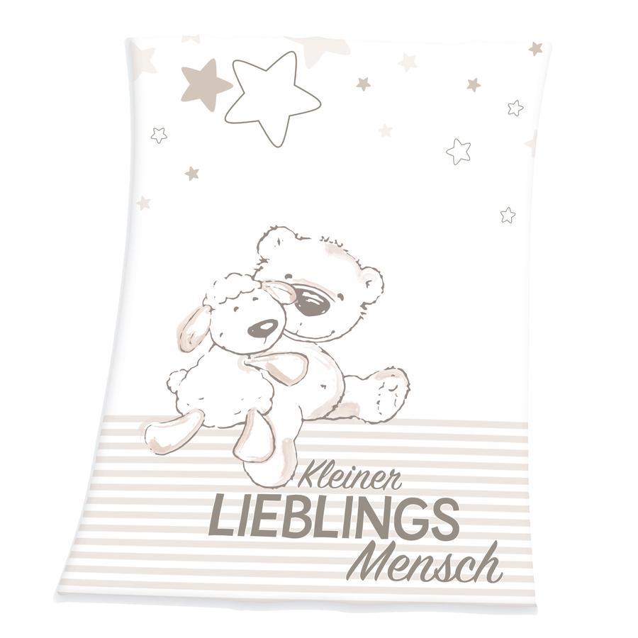 HERDING Kinderdecke Fynn kleiner Lieblingsmensch 75 x 100 cm