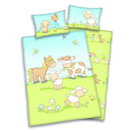 babybest® Bettwäsche Bauernhoftiere 100 x 135 cm