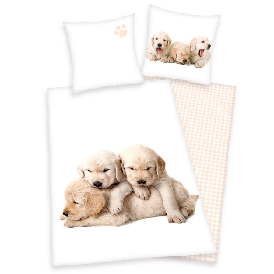 HERDING Sengetøj hundehvalp 135 x 200 cm
