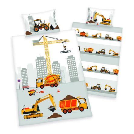 babybest® Bettwäsche Baustellenfahrzeuge 100 x 135 cm