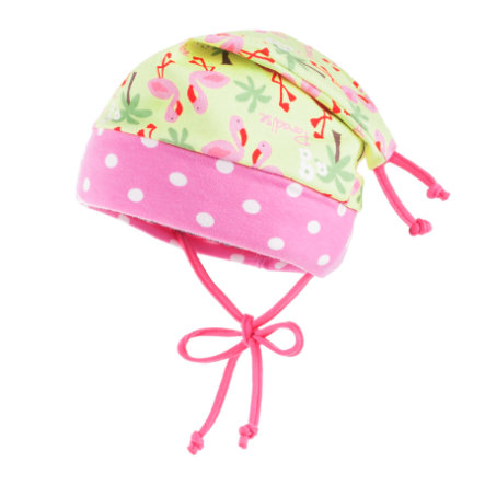 maximo Girls Zipfelmütze Flamingo sunny-lime