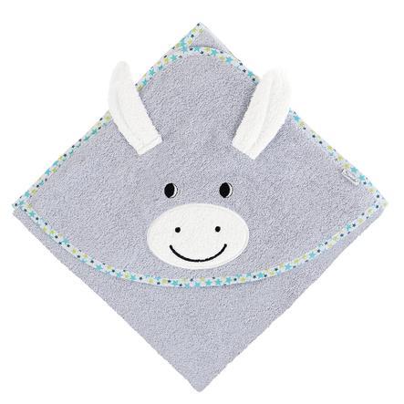 Sterntaler Håndklæde med hætte Erik sølvgrå 100 x 100 cm