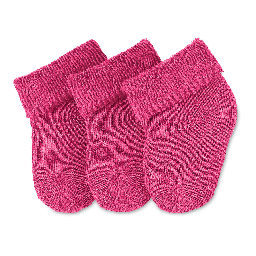 Sterntaler Girl s premières chaussettes 3-pack magenta