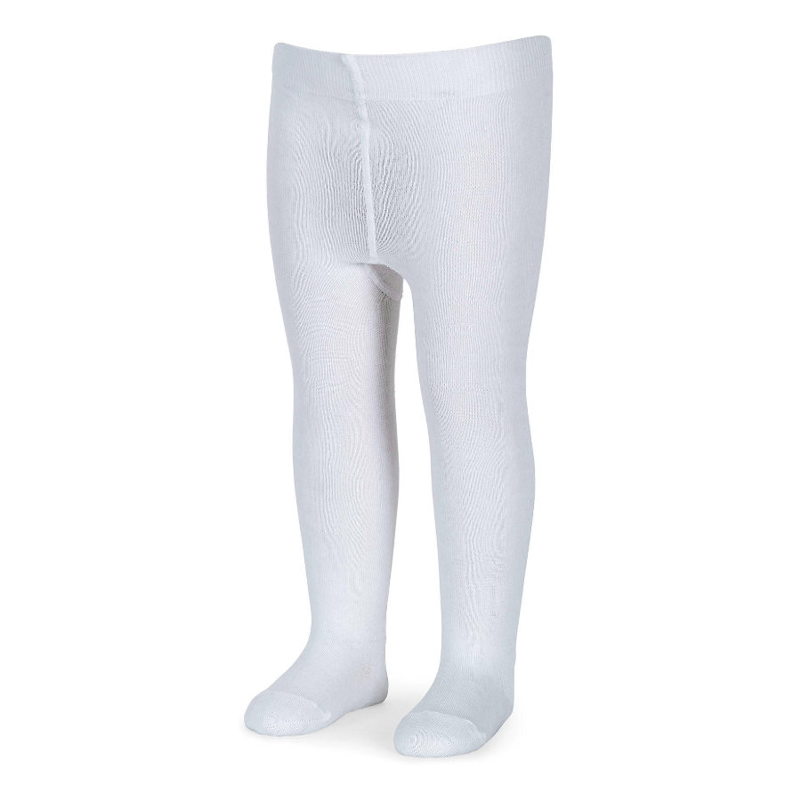 Sterntaler Collants enfant coton uni blanc