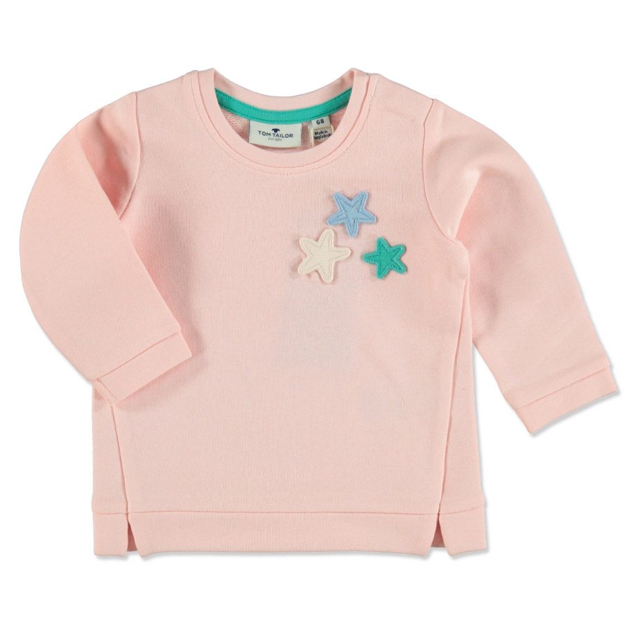 TOM TAILOR Girls Sweatshirt rose cream