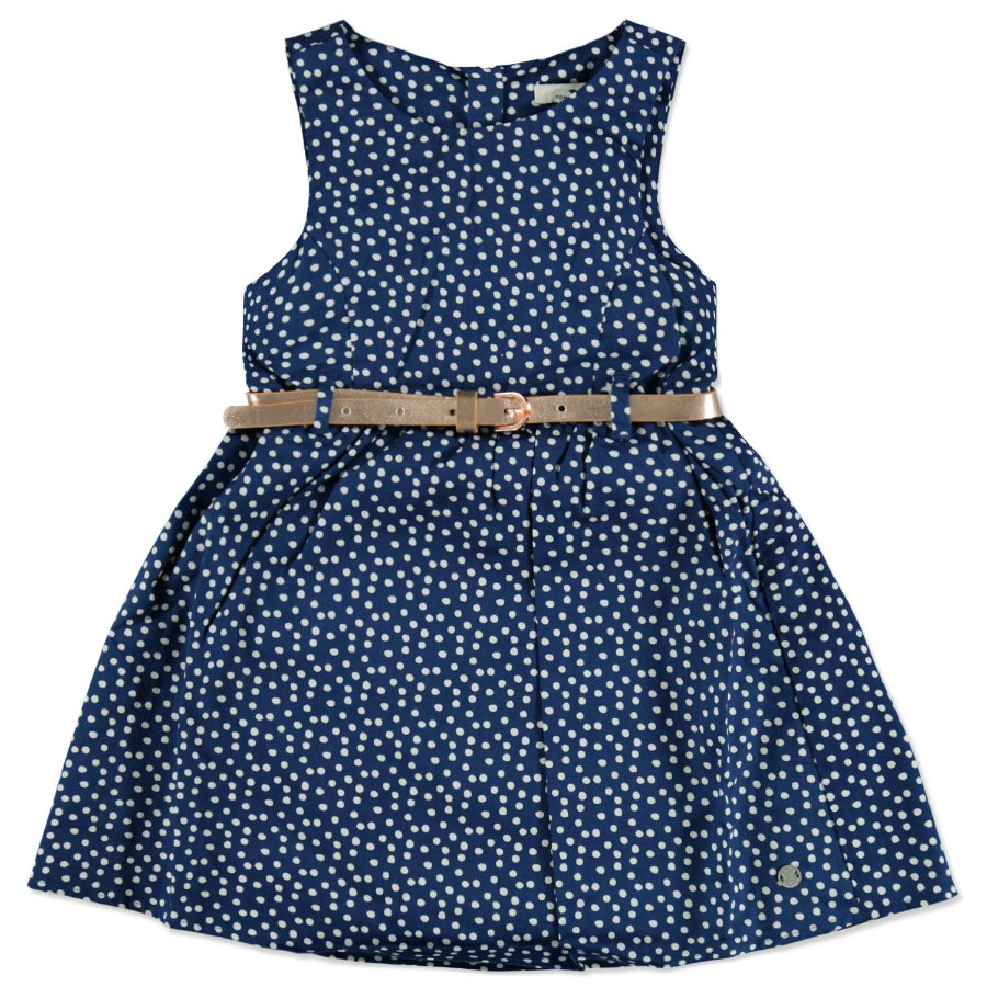 TOM TAILOR Girls Kleid mit Gürtel gepunktet Estate Blue