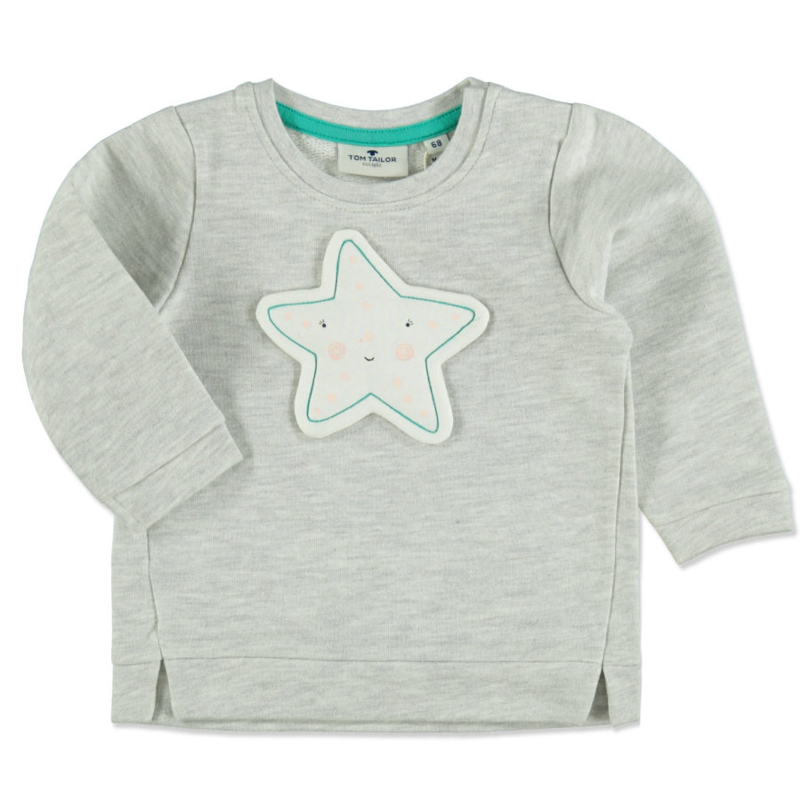 TOM TAILOR Girls Sweatshirt greyish beige melange