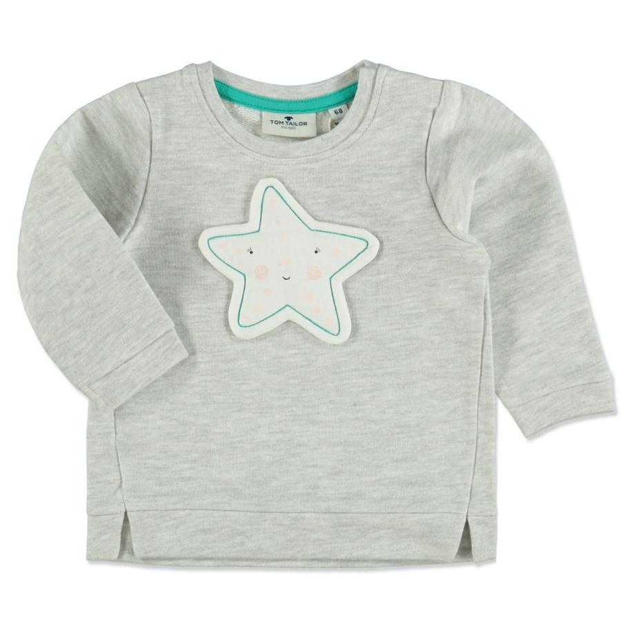 TOM TAILOR Girls Sweatshirt greyish beige melange