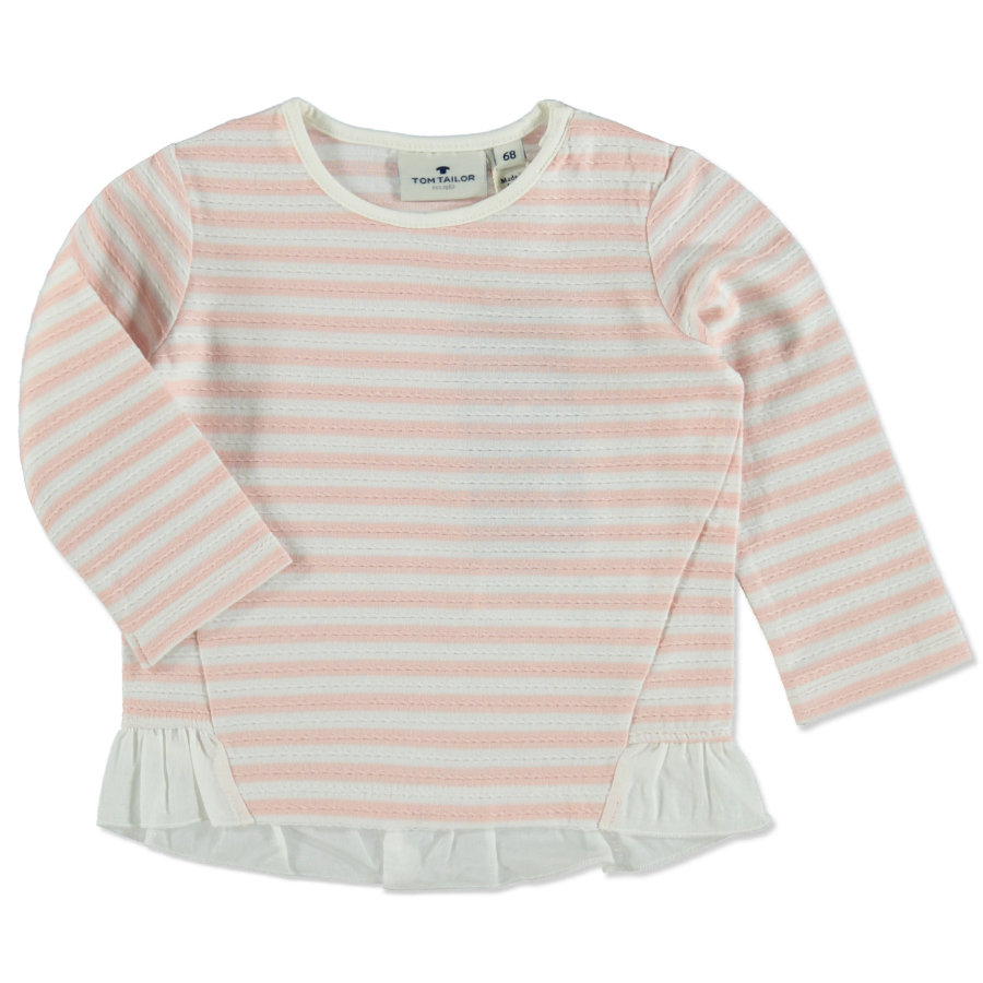 TOM TAILOR Girls Langarmshirt Rose Cream gestreift