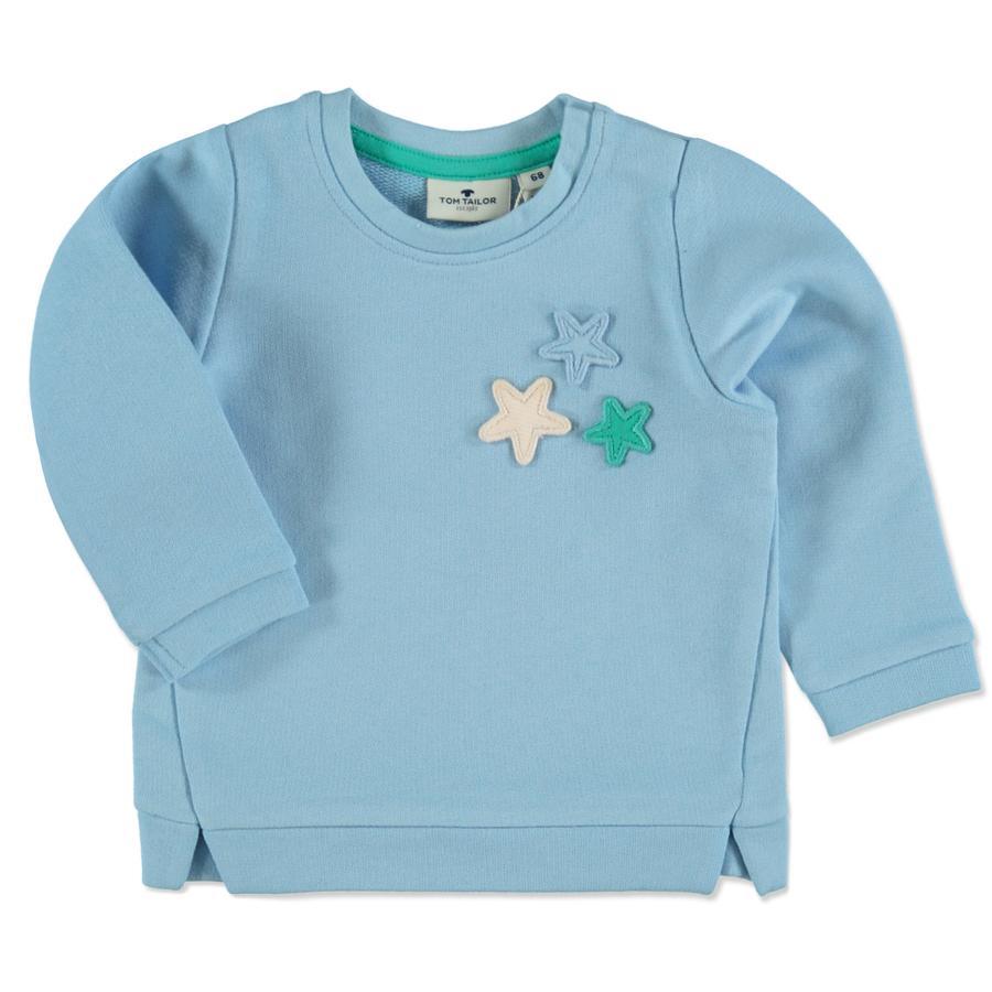 TOM TAILOR Girl 's Sweatshirt uitgewassen middenblauw