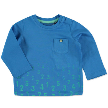 TOM TAILOR Boys Langarmshirt mit Zahlen-Print Medium Deep Sky Blue