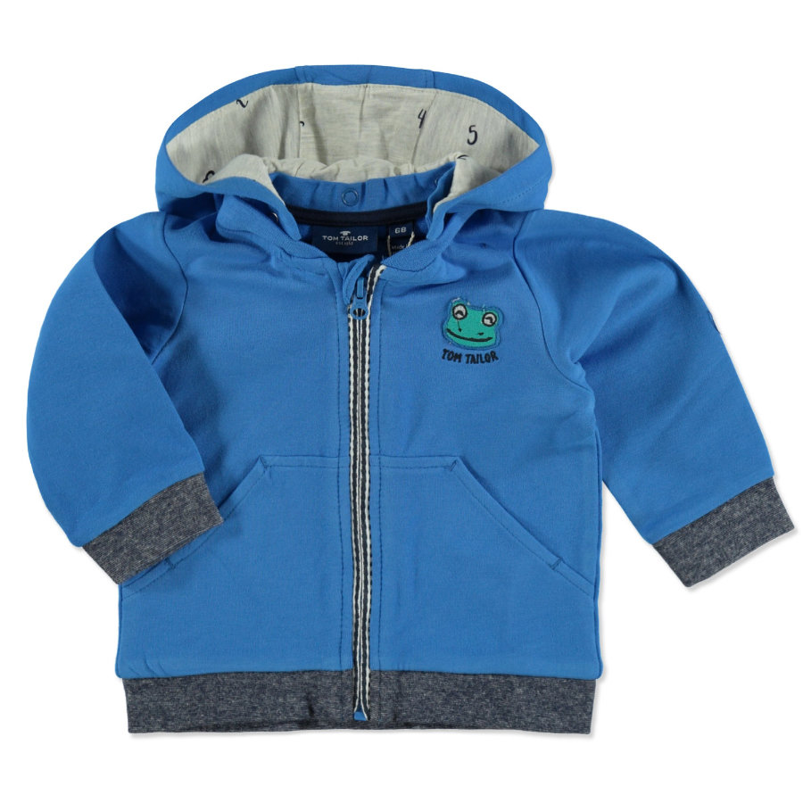 TOM TAILOR Sweatjacke mit Kapuze Medium Deep Sky Blue