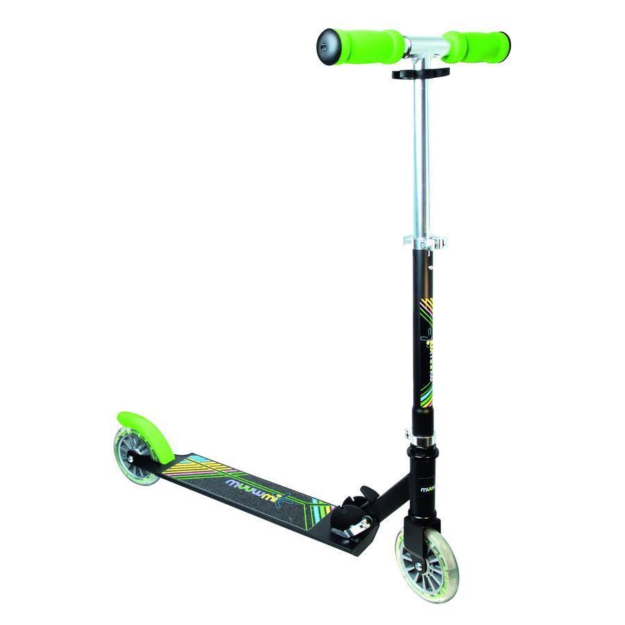 AUTHENTIC SPORTS Aluminium Scooter Muuwmi NEON 125 mm med lysende hjul
