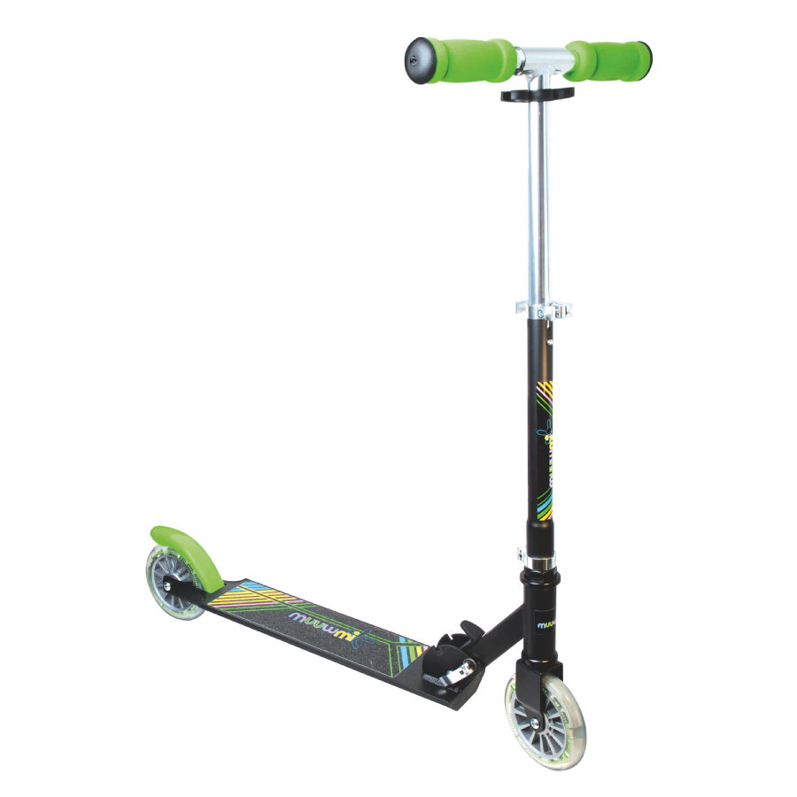 muuwmi Aluminium Scooter Neon 125 mm mit Leuchtrollen