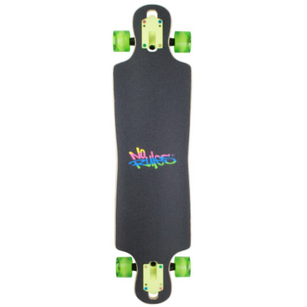 AUTHENTIC SPORTS Longboard ABEC 7 No Rules Neon mit Leuchtrollen