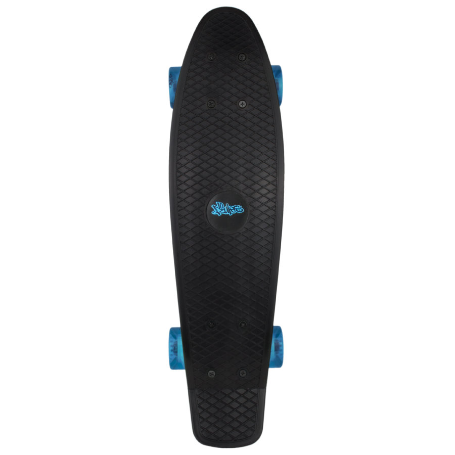 AUTHENTIC SPORTS Skateboard fun, No Rules, zwart-transparant