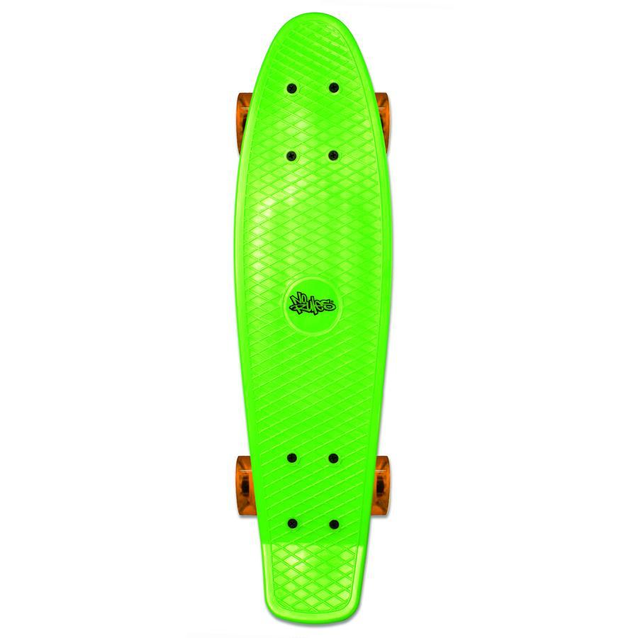 AUTHENTIC SPORTS Skateboard fun, No Rules, verde-trasparente-arancione