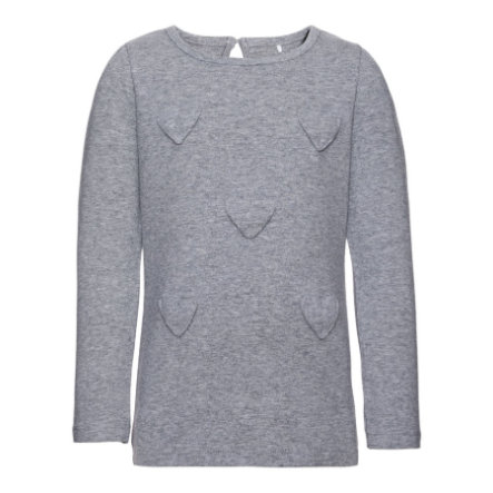 name it Girls Bluzka z długim rękawem Dart grey melange