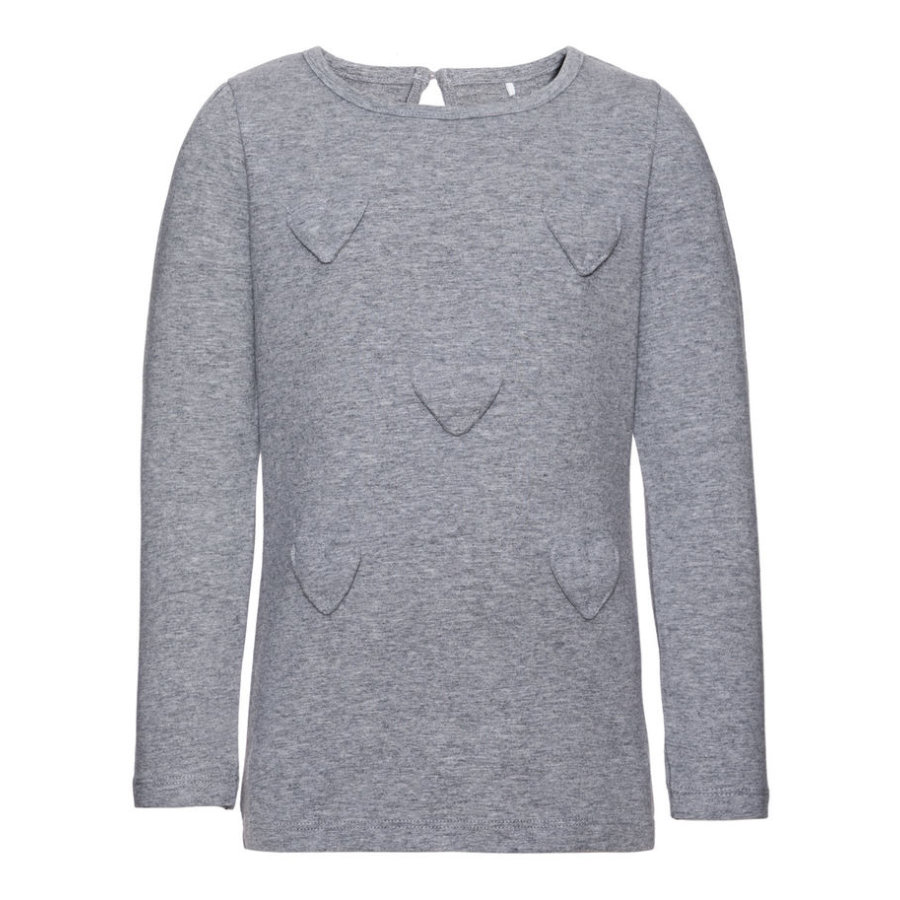 name it Girls Longsleeve Dart grey melange