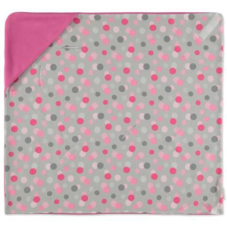 HOBEA Couverture bébé enveloppante été pois rose
