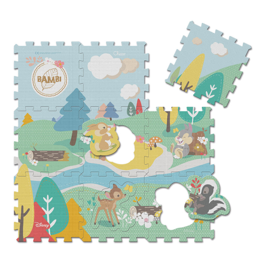 Chicco Tapis Puzzle Bambi Disney 9 Pi Ces