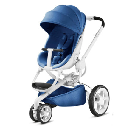 Quinny Kinderwagen Moodd Blue Base - wit frame