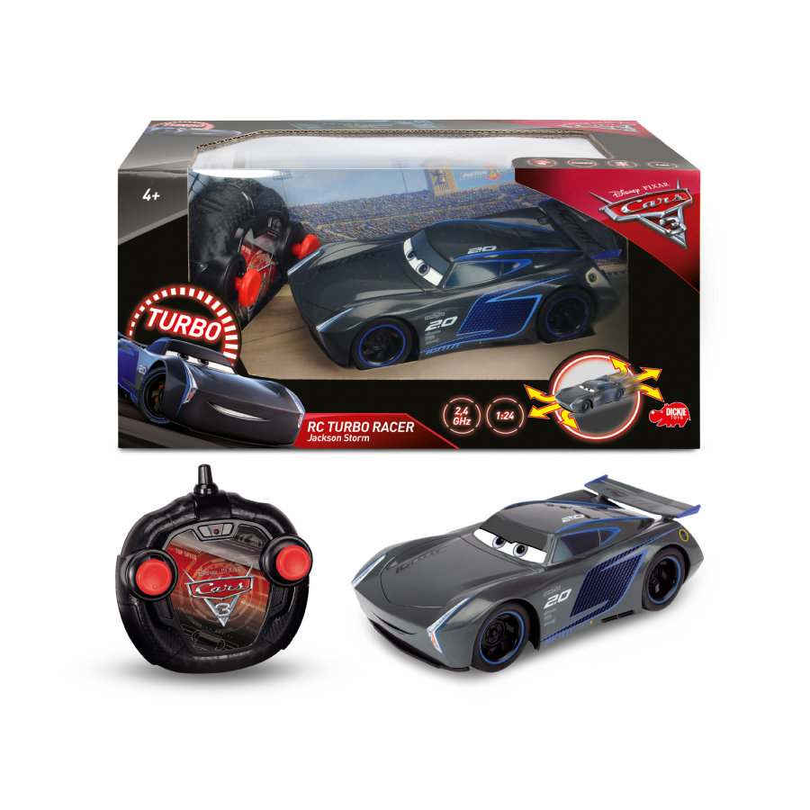 DICKIE Toys Voiture radiocommandée Cars 3 Flash McQueen Turbo
