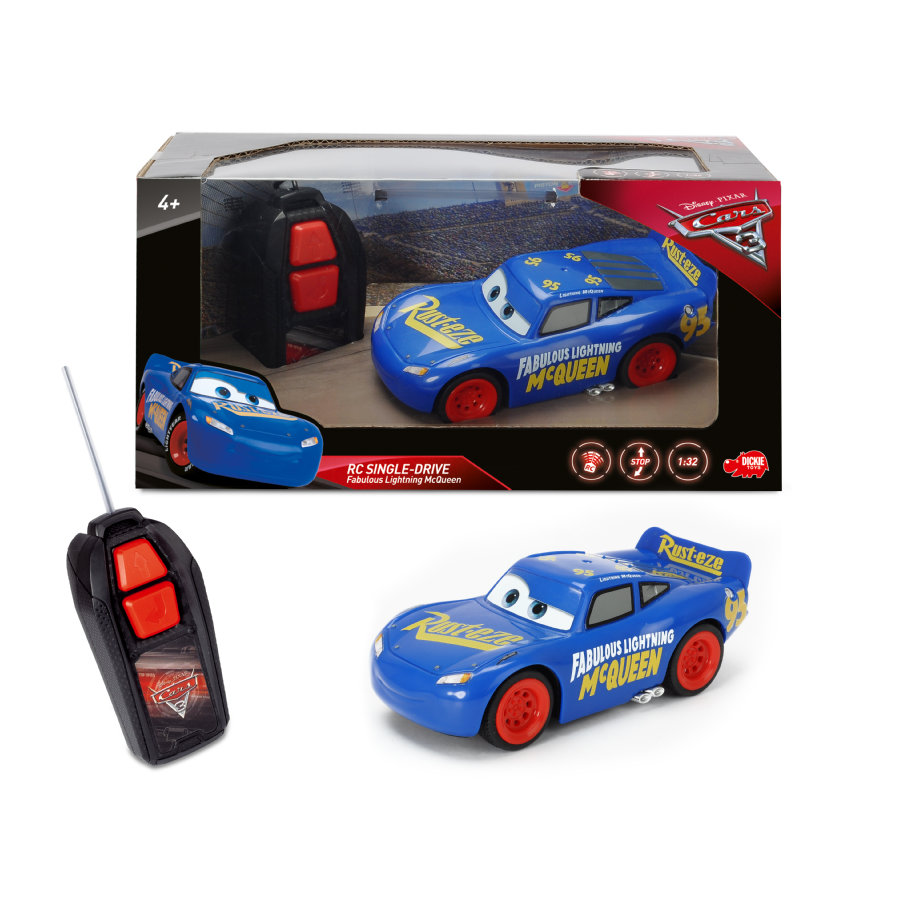 dickie toys voiture radiocommand e cars 3 fabulous flash mcqueen single drive. Black Bedroom Furniture Sets. Home Design Ideas