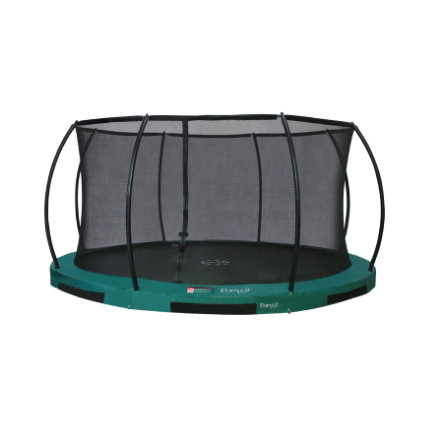 Etan Inground Hi- Flyer 14 Combi trampolino con rete di sicurezza e scala verde