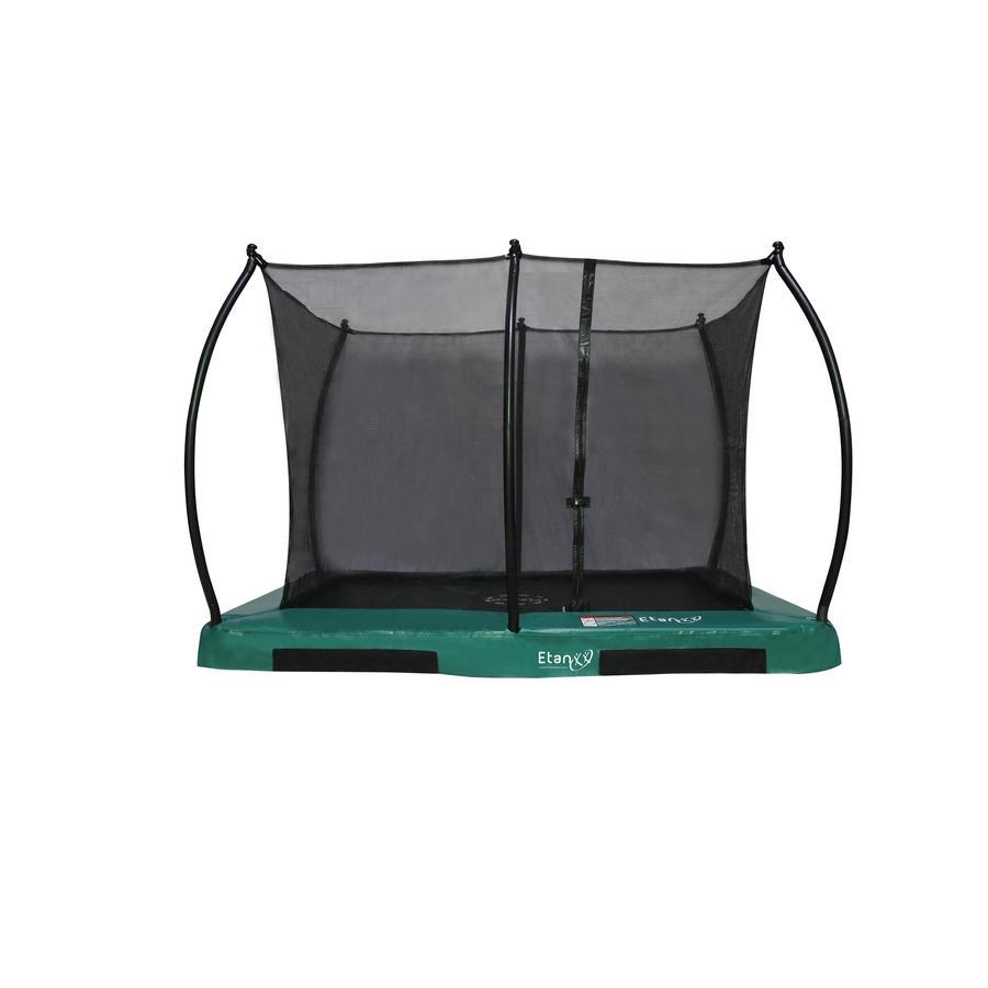 Etan Inground Hi- Flyer 1075 Combi trampolina z siatką zabezpieczającą i drabiną zieloną