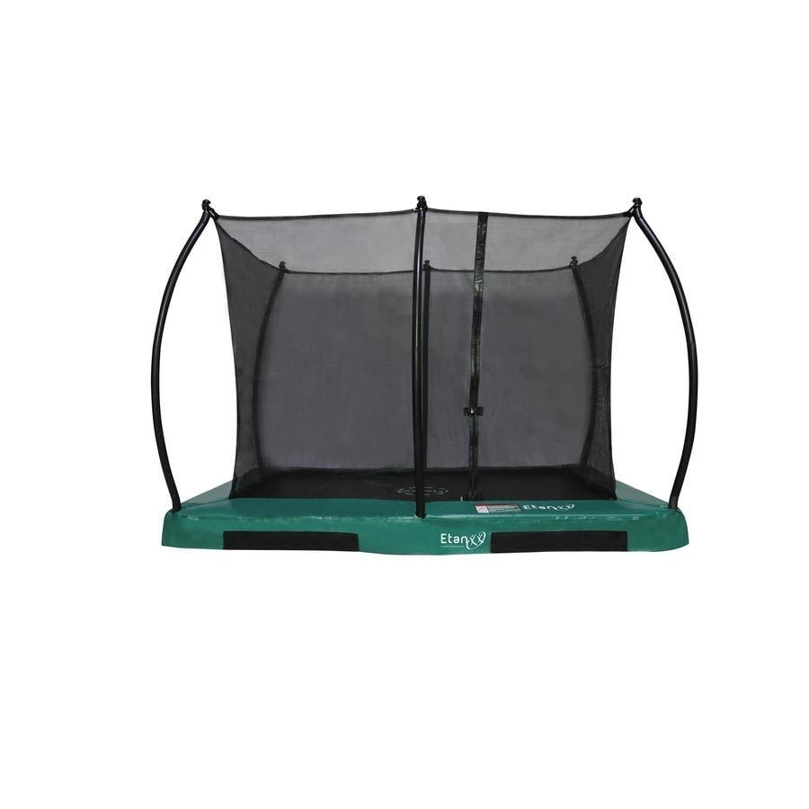 Etan Inground Hi- Flyer 1075 Combi trampolino con rete di sicurezza e scala verd