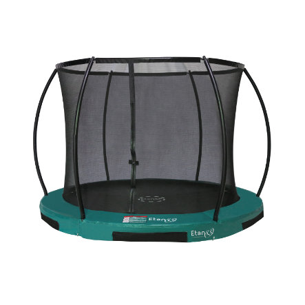 Etan Inground Hi- Flyer 08 Combi trampolino con rete di sicurezza e scala verde