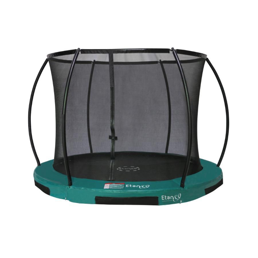 Etan Inground Hi- Flyer 08 Combi trampolino con rete di sicurezza e scala verde