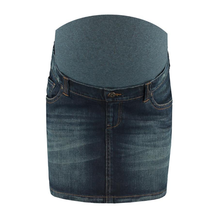 LOVE2WAIT gravid jeans skjørt mørk vask