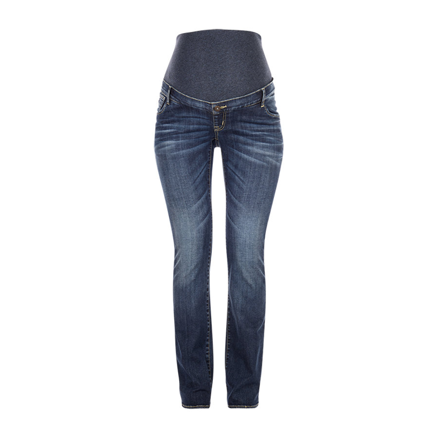 LOVE2WAIT Umstandsjeans Romy Dark Wash - Länge: 34