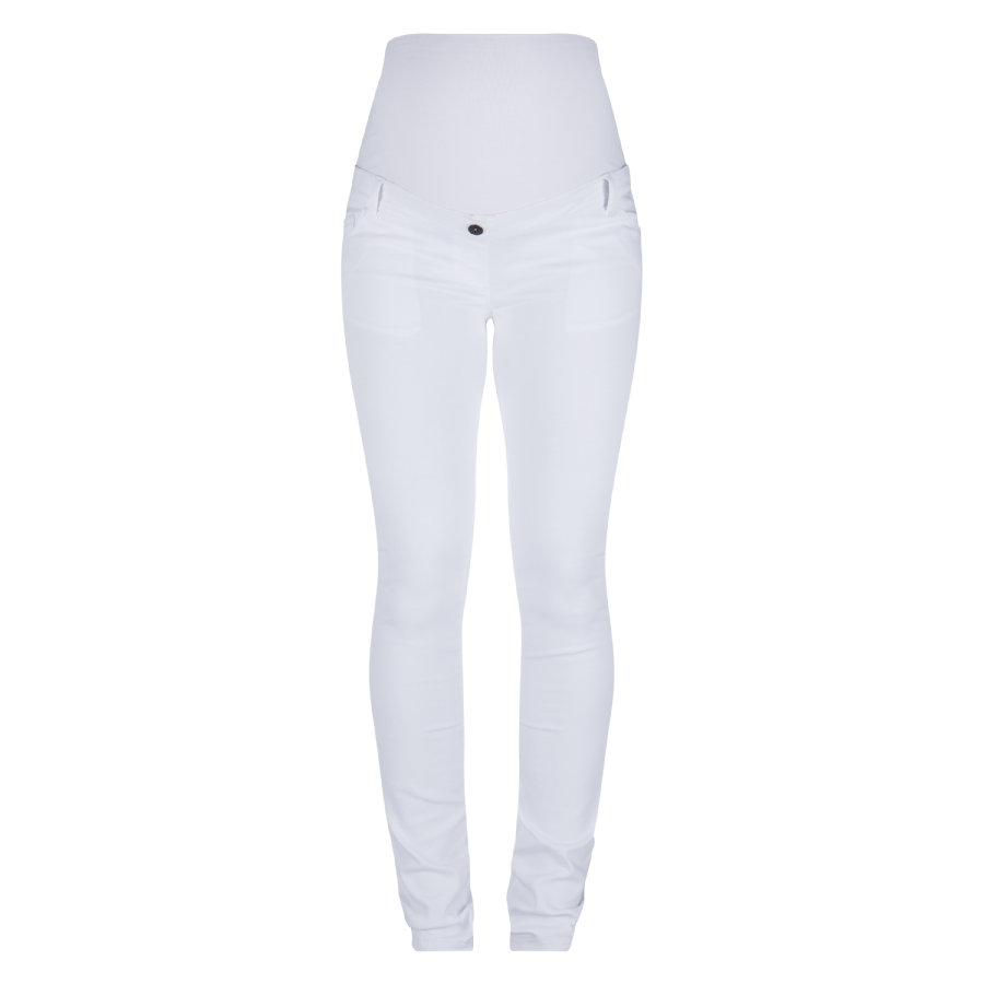 LOVE2WAIT Zwangerschapsbroek Sophia Superskinny wit