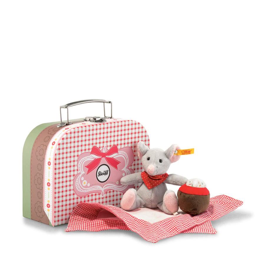 STEIFF Mr.Little hiiri ja matkalaukku harmaa, 12 cm
