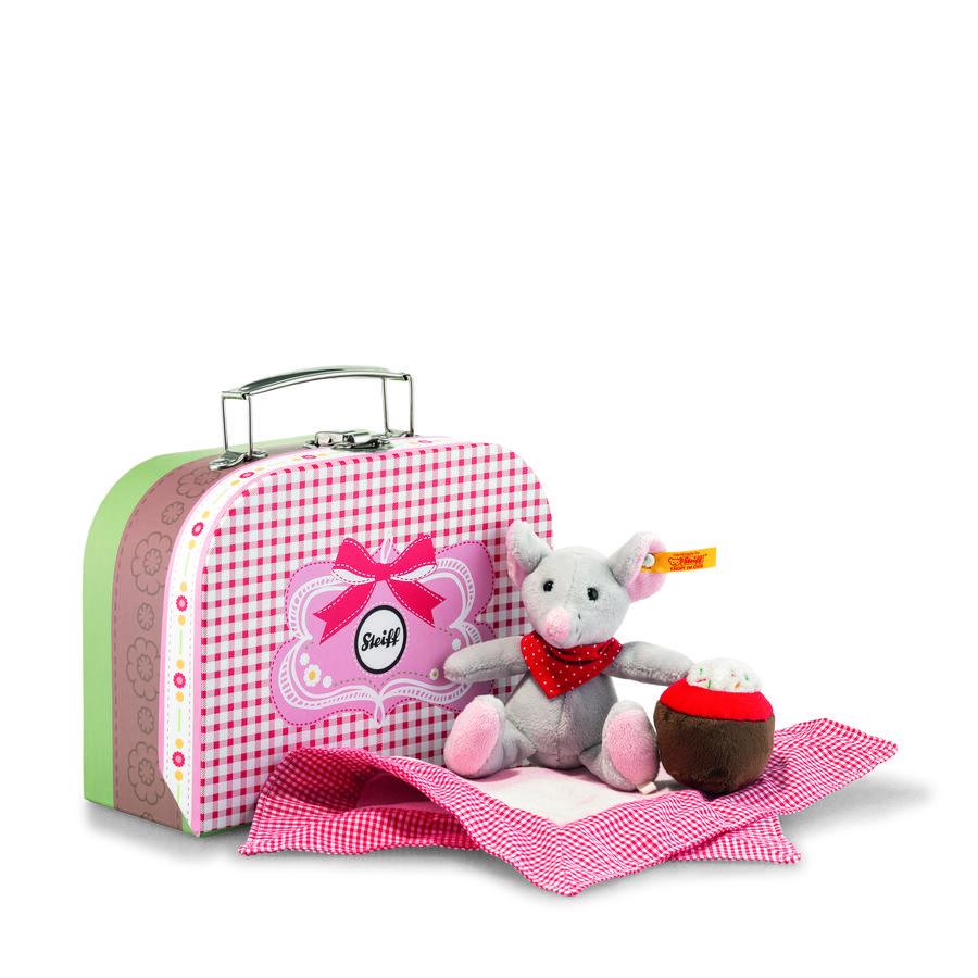 Steiff Mus Mr. Little 12 grå inkl. lille kuffert