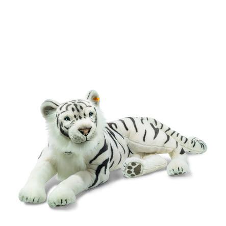 Steiff Tuhin Tiger 110 weiss liegend