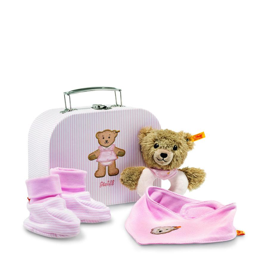 Steiff Geschenkset  Schlaf Gut Baer Greifring mit Rassel rosa
