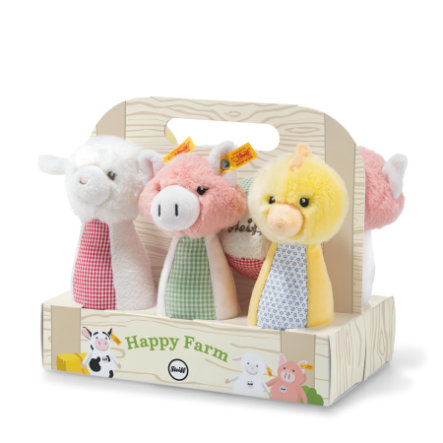 Steiff Happy Farm Kegelspiel-Set 7 tlg.